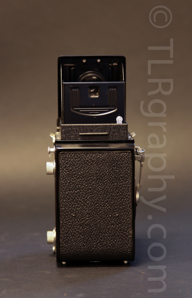 Back view - Minolta Autocord RG Version 1, 1961, Japan